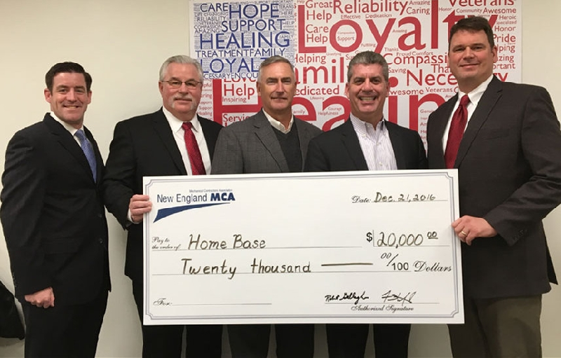 Members of New England MCA/MSCA Donate to Home Base