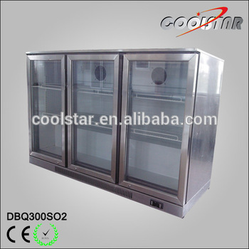 three open door stainless steel beer merchandiser - Beer Merchandiser