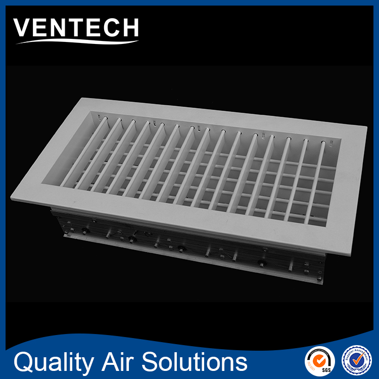 Double Deflection Grille With Damper : Hvac aluminum double deflection exhuast air grille