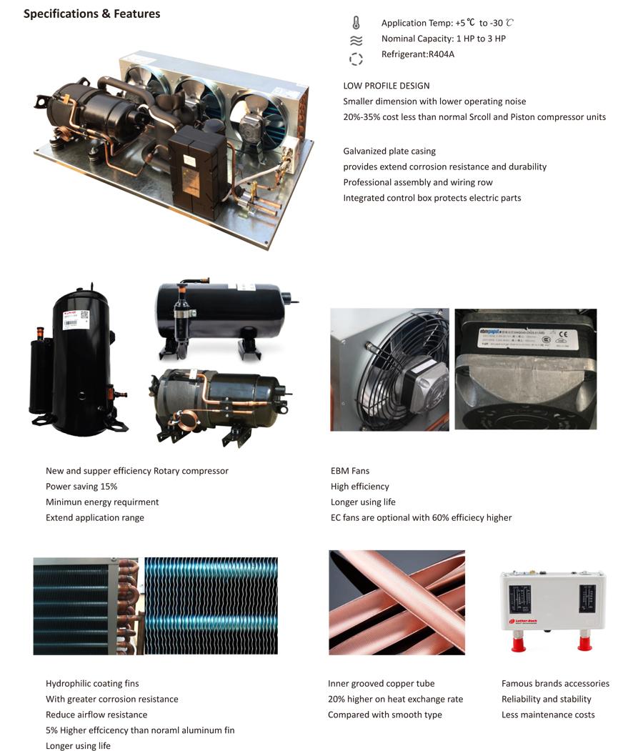 LURT SERIES ROTARY Compressor condensing units - Coowor com