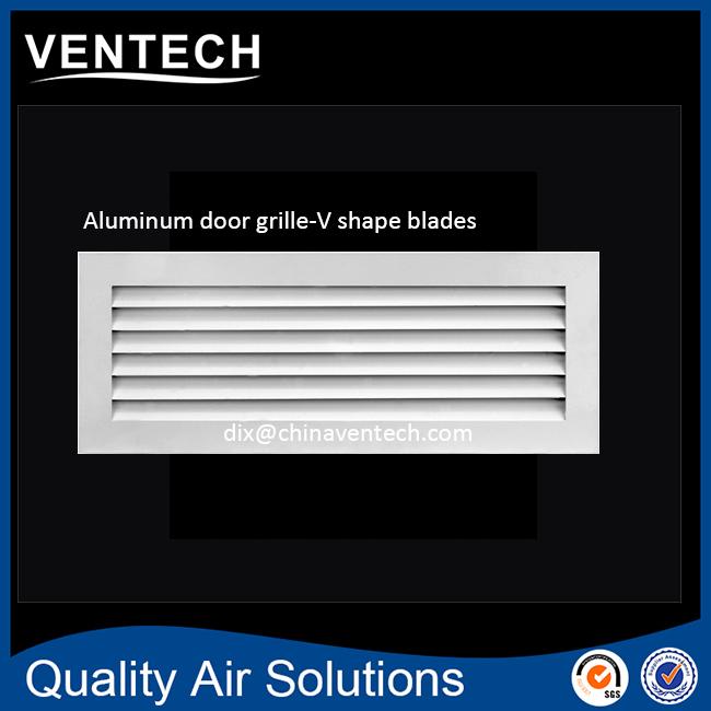 Ventilation And Decorative Silver Aluminum Return Air Grille Door
