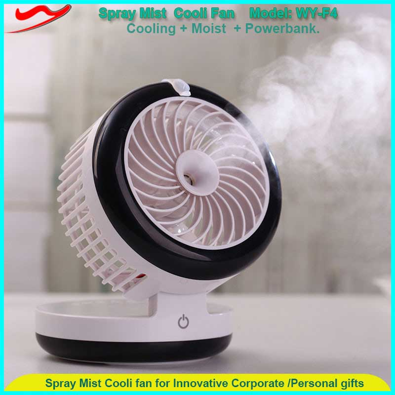 mini super air cooling fan with power bank blowing cold. Black Bedroom Furniture Sets. Home Design Ideas