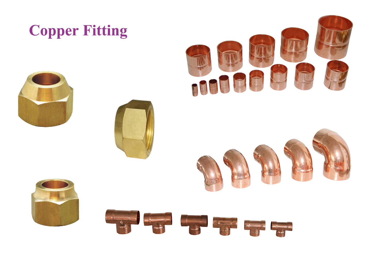 Refrigeration flare copper nuts coowor
