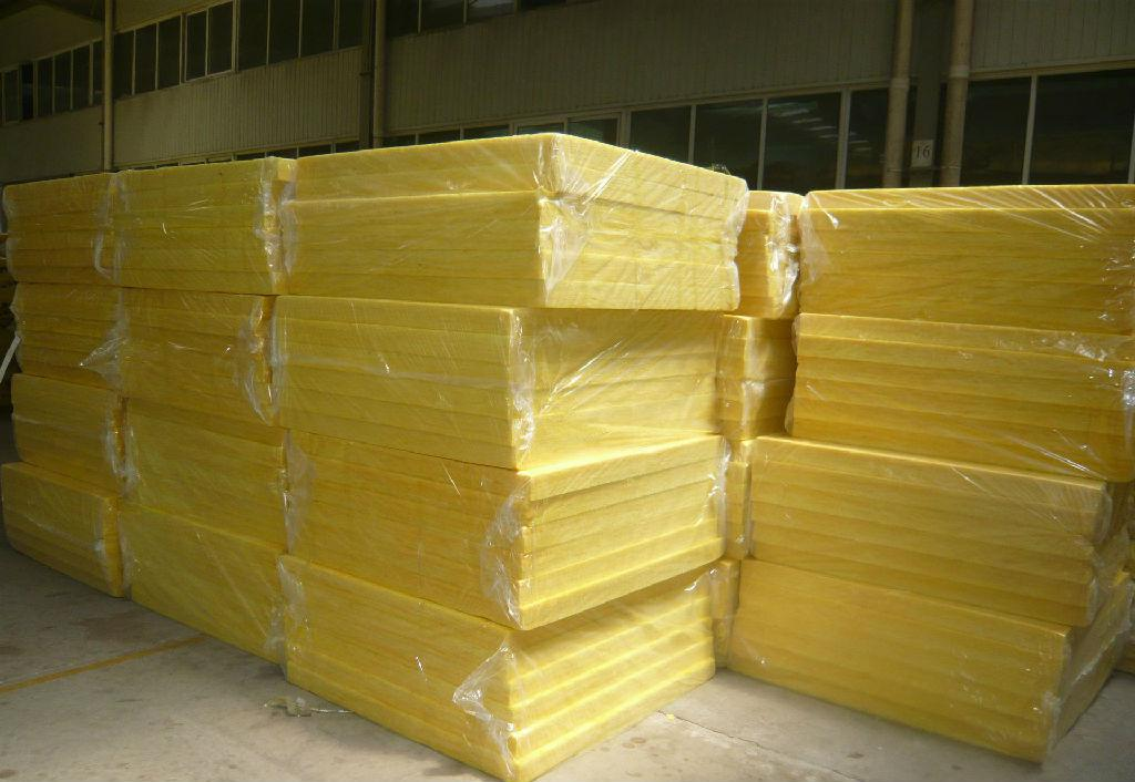 Fireproof fiberglass wool slab thermal insulation for Glass wool insulation