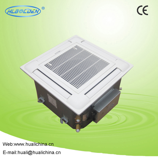 Chilled water fan coil 4 way cassette fan coil unit / Ceiling type fan coil unit for central air conditioner system