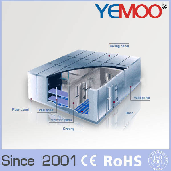 Cold storage room walk in cold room price for frozen fish for Walk in freezer motor