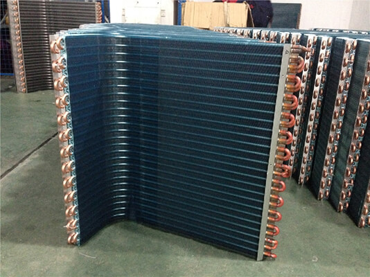 Air Condenser Coil : Copper tube coil heat exchanger condenser