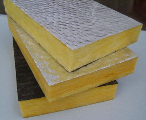 Cheap price fireproof fiber glass wool slab with aluminum for High density fiberglass insulation