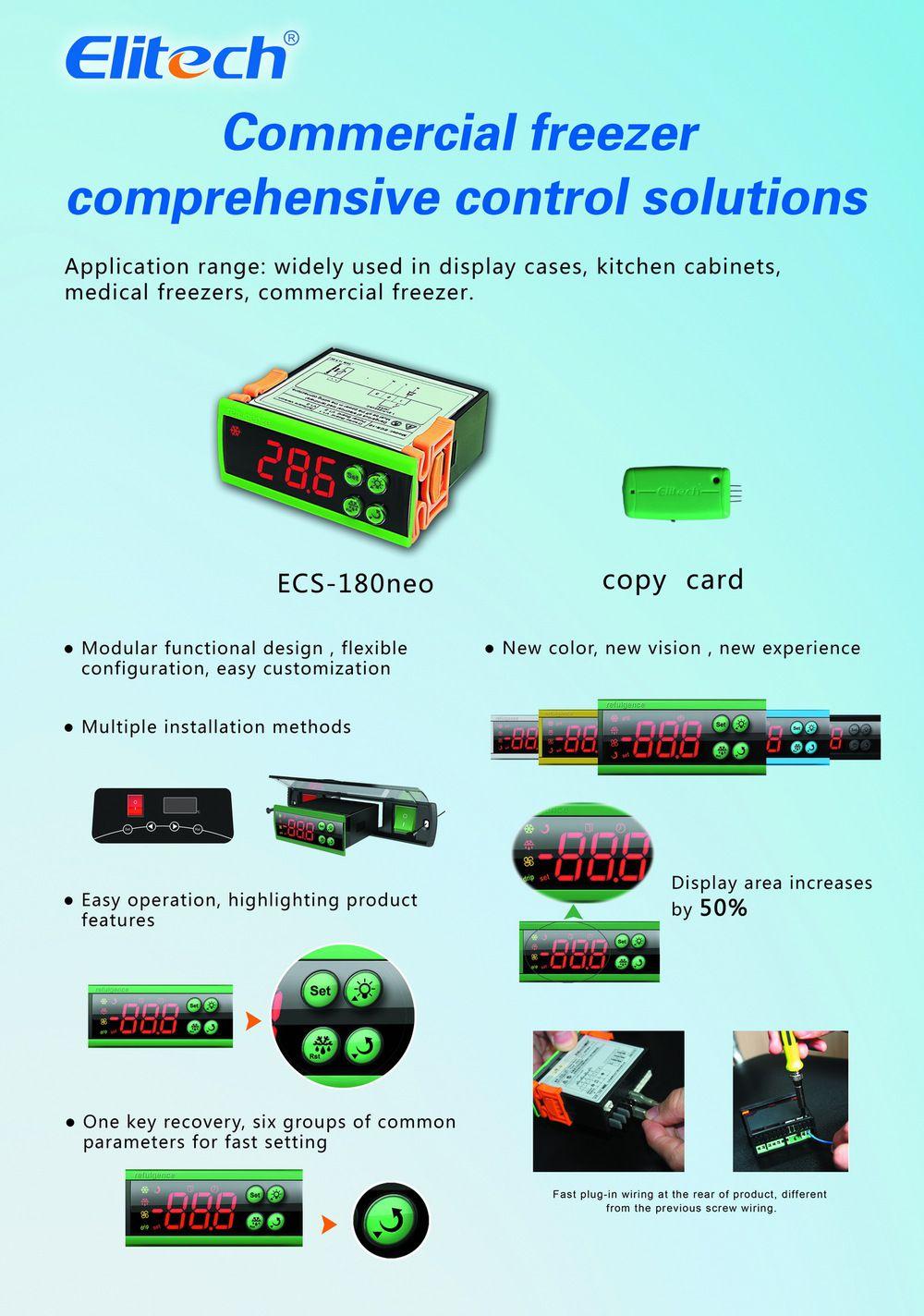 how to set temperature control on ecs-180