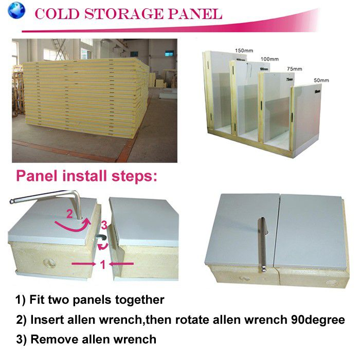 Prefab Cold Room PU Panel For Cold Room Storage