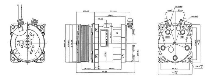 Universal Sanden Auto AC COMPRESSOR SD5H14/508 SD6629