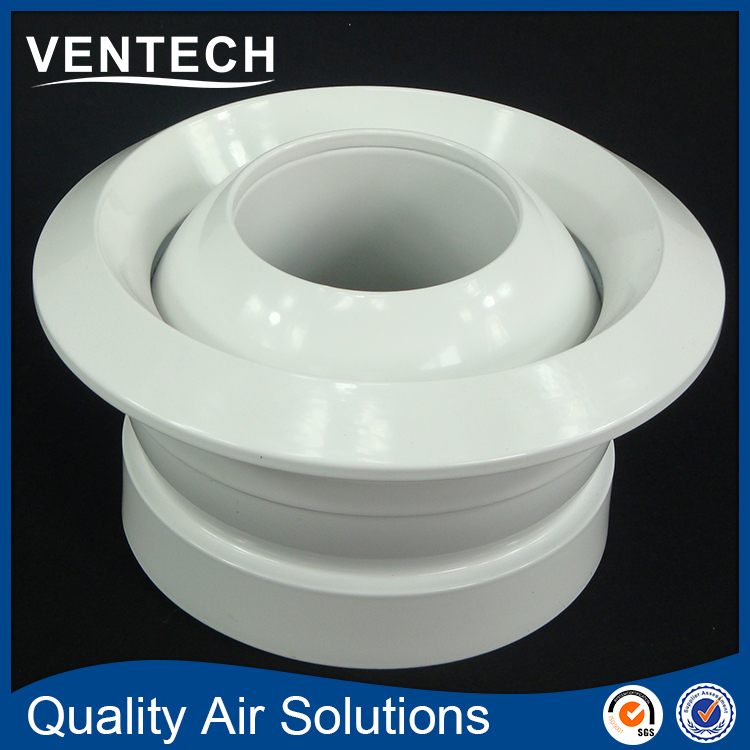 Hvac Air Conditioner Wall Mounted Vent Ceiling Round Jet Diffuser Coowor